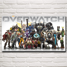 Over Watch Entertainment Video Game Art Silk Poster Prints Home Wall Decor Printing 11x20 16x29 20x36 Inches Free Shipping