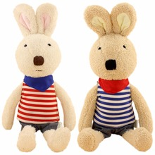 JESONN Dressed Stuffed Bunnies Toys Soft Plush Easter Rabbits Animals for Children's Gifts(China)