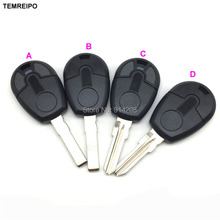 20pcs/lot New style Replacement Car Key For Fiat transponder Key Shell Blank Key No Chip Fob with logo
