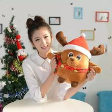 Christmas Santa Claus Doll Toy Music LED Lighting Christmas Ornaments Decoration For Home Xmas New Year Gift Kids Plush Toys