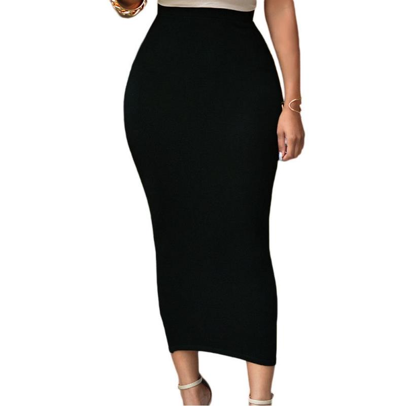 ADEWEL 2017 Sexy Women Bodycon Long Skirt Black High Waist Tight Maxi Skirts Club Party Wear Elegant Pencil Skirt (1)