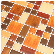 HOT GCZW-3D Tile Mosaic Pattern Wallpaper Modern Wall Background LivingRoom Kitchen DecorPattern:#2 260Mm X 260Mm X1mm(China)