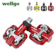 Wellgo MTB Bicycle Pedals Ultralight Bike Bicycle Pedals Mountain Road Bike Pedal Folding Cycling Bicycle Foot Pegs Pedals mtb