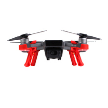 Sunnylife 4Pcs/set Landing Gears Stabilizers Landing Skids Gimbal Camera Protector for DJI SPARK - Red(China)