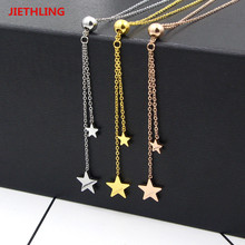 New Hot Silver/Gold/Rose Gold Color Pendant For Women Love Letter Star Necklaces & Pendants Vintage Jewelry Brand Accessories(China)