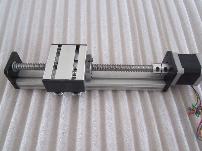 High Precision Linear Modules effective stroke 300mm Ball screw SG1204 linear bearing NEMA 23 stepper motor for CNC table(China (Mainland))