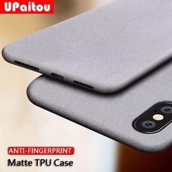 Силиконовый ультратонкий немаркий матовый чехол UPaitou для iPhone