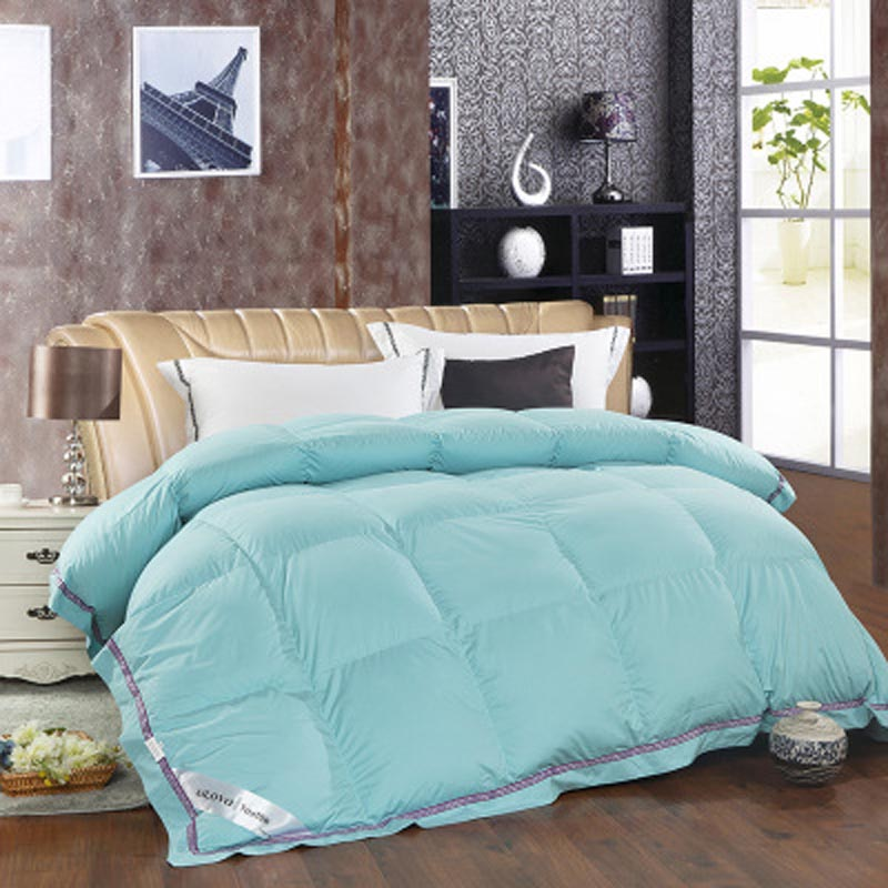 100 duck down comforter feather winter quilt warmly pink blue comforter king size 220x240cm super - King Size Down Comforter