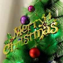 1PC Christmas Tree Decoration Merry Christmas Letter Brand Christmas Drop Decoration Santa Home Party Market Ornament CKG174(China)