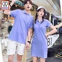 1f7baad3f0 Matching Couple Clothes 2019 Design Tops Hot Women Boyfriend Girlfriend  Casual T Shirt Tunic Stripe Blue