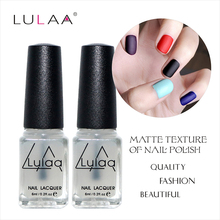 Free Shipping 1Pcs 6ML Nail Polish Magic Super Matte Transparent Nails Art Gel Frosted Surface Oil Nail Polish high Quality(China)