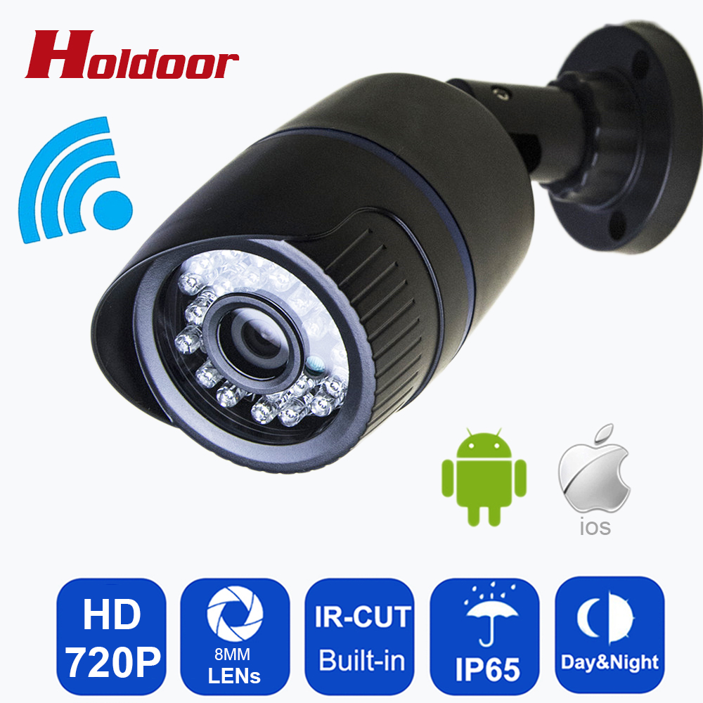 WIFI Camera 720P 1MP HD  Onvif 2.0.4 P2P Waterproof IP65 Outdoor Home Security IP Cam Infrared SD Card Slot Support 64G sd card<br>