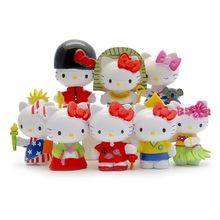 8pcs/set Anime Cartoon Hello Kitty Figures Toys Handicrafts Decoration PVC Action Figure Toys Model Dolls 5~6cm Gifts For Kids(China)