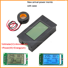 1PC AC 100A Power Meters Monitor Voltage current kWh Watt Digital LED Tester with case + CT High Quality(China)