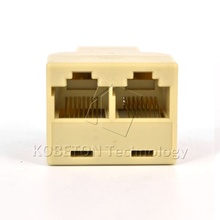 Newest Portable RJ45 Two Way Splitter Connector CAT5 CAT6 LAN Ethernet Splitter Adapter 8P8C Network modular plug for PC laptop