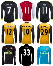 Free patches 2017 Top Best Thai AAA Qualit Full Arsenales adult Soccer jersey 16 17 goalkeeper Home Away 3RD Shirt Free shipping