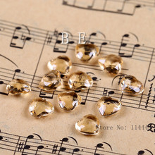 2000pcs/lot 6mm ( 1 Carat ) Acrylic Gold Heart Crystals Table Scatter Heart  Tip Back Confetti wedding Valentine Decoration