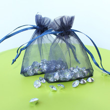 "Wholesale 100pcs navy blue Organza Gift Bags,Wedding voile gift bags,Jewlery Bags packing Pouches 3"" (7cm) x 3.5"" (9cm)(China)"