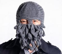 2017 Tentacle Octopus Cthulhu Knit Beanie Hat Cap Wind Mask Men's Women's Unisex Halloween Birthday Gifts  Funny Animal