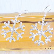 New Snowflakes Earring Fashion Luxury Full Shiny Rhinestone Earrings For Women Fashion Fine Jewelry Ec(China)