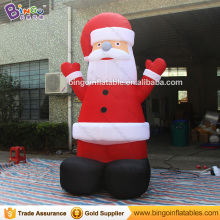Free Delivery 3M high Giant Inflatable Santa Claus hot sale blow up old man with air blower For Chrismas Holiday toys(China)