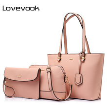 LOVEVOOK brand fashion women shoulder bags large capcity totes ladies three composite bag female zipper crossbody bags 2017