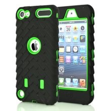 Shockproof  Tire tyre Hybrid Layer Case For Ipod Touch 6 6G 6th 5 5g 5th Ipod6 Ipod5 Hard Plastic+Soft Silicone Skin 100PCS