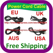 100 pcs 1.5M Free Shipping AC Power Cord cable lead Adapter EU US UK AU Plug 10A 250V Laptop AC Adapter Cord