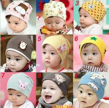 1 Pcs Cartoon Cute Spring Autumn Crochet Winter Cotton Baby beanie Hat Girl Boy Cap Children Infant Unisex Big Size(China)