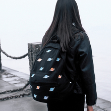 Kiitos Life Canvas embroider backpacks for boys&girls in flight series in planet  (FUN KIK store)