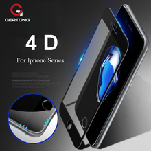 Buy GerTong 4D Toughened Tempered Glass iPhone 8 X 7 6 S 6S Plus Protective Screen Protector Phone Full Cover Anti Explsion Film for $2.57 in AliExpress store