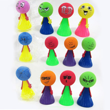 5 Pcs/Pack Kids 9cm Large Bounce Ball Toys Children Educational Game Hip Hop Expressions Push&Down Elf Villain Doll Baby Gifts(China)