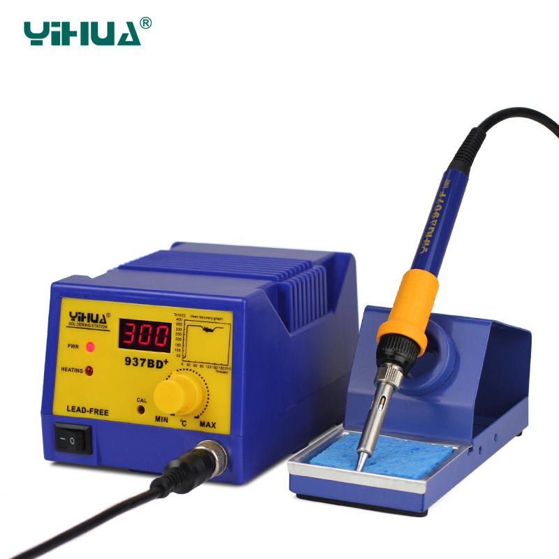 YIHUA-937BD+ Digital LED automatic Temperature Soldering Station with large power soldering iron tool<br><br>Aliexpress