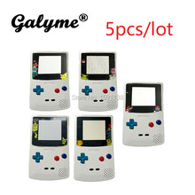5pcs/lot Hot Sale Game Kids Gift White Color Case Pika Cartoon Lens Fit NintendoGBC GBO DMG Boy GBGBC GameboyColor Shell Cover(China)