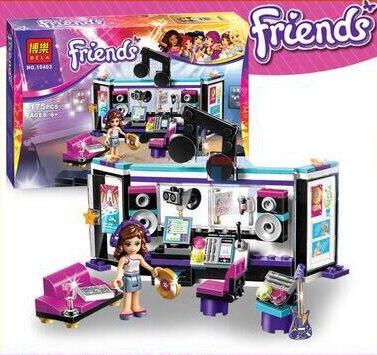 BELA Friends Girl Music Recording Studio Building Blocks Sets Olivia Minifigures Bricks Toys Compatible Legoe friends<br><br>Aliexpress