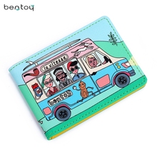 Personality Funny Character Women Business Card & ID Holders Wallet Designer Driving Licence Mini Pocket Credit Card Case(China)