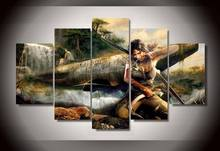 Framed Printed Tomb Raider Group Painting children's room decor print poster picture canvas Free shipping/jjv411