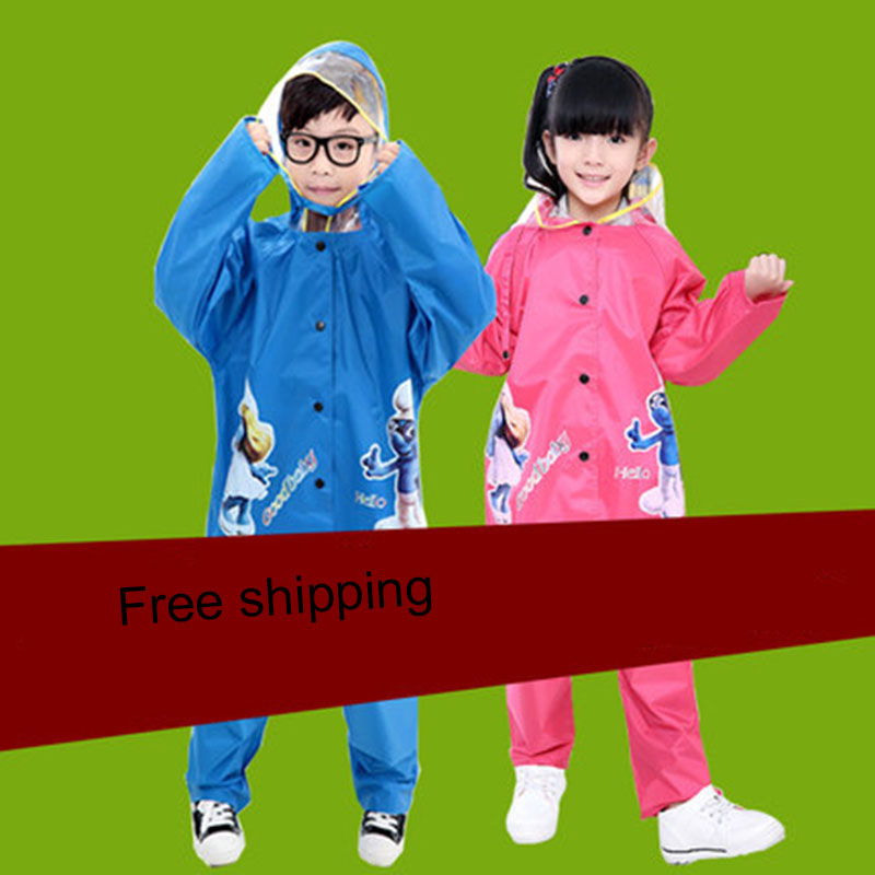 Rain Coat Children Raincoat Rainwear For Kids Girls Boys Sets Chuva Waterproof Cloak Impermeable Animal Raincoat Cute DDGY86<br>