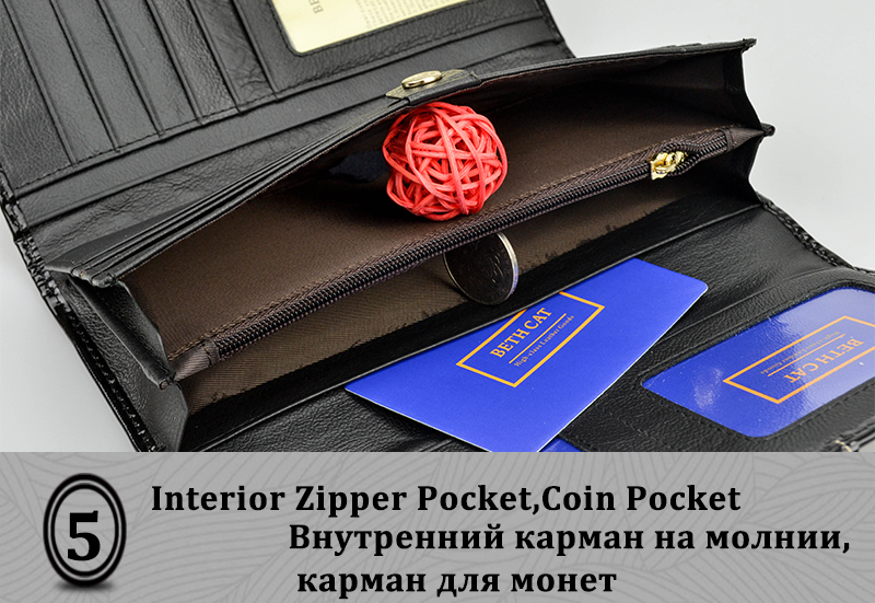 HTB1k6DDRpXXXXcGXFXXq6xXFXXXa - BETH CAT 2018 New Fashion Genuine Leather Women Wallet Female Hasp Purse Long Coin Purses Ladies Wallets Cowhide Red