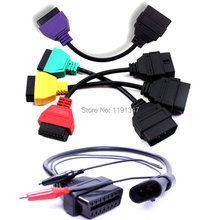 Fiat 3pin +Diagnostic Cables for Fiat MultiECUScan Green Red Yellow Purple Adaptors Fiat ECU Scan
