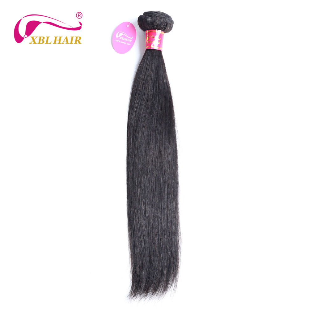 XBL HAIR Malaysian Straight Hair 1 Bundles Human Hair Weaves Natural Color Remy 8-28″ Can Be Dyed Free Shipping
