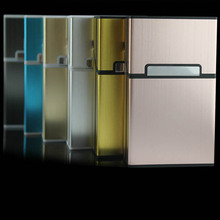 New Fashion Novelty Gag Toys Creative Magnetic Snap Cigarret Case Slim Metal Cigarette Box Aluminum Gift Box Toy FL