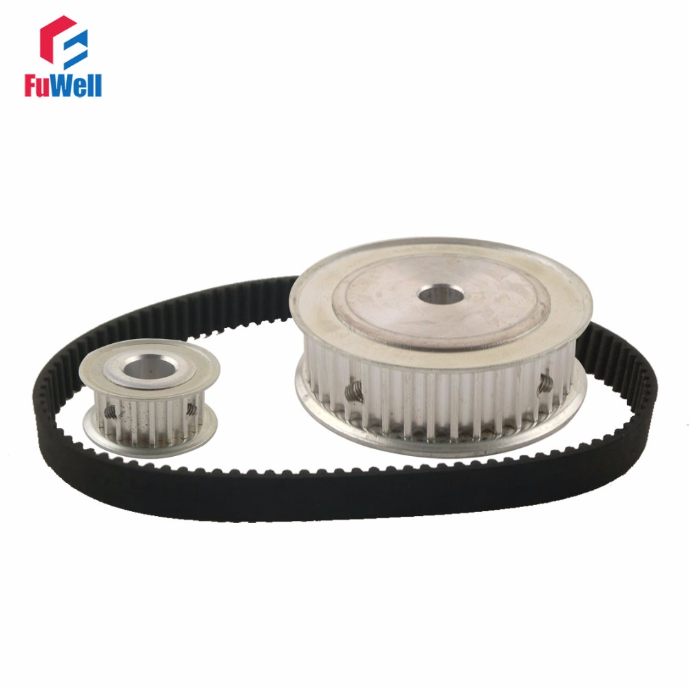 HTD5M Reduction Timing Belt Pulley Set 15T:60T 1:4/4:1 Ratio 80mm Center Distance Toothed Pulley Kit Shaft 5M-365 Gear Pulley<br>