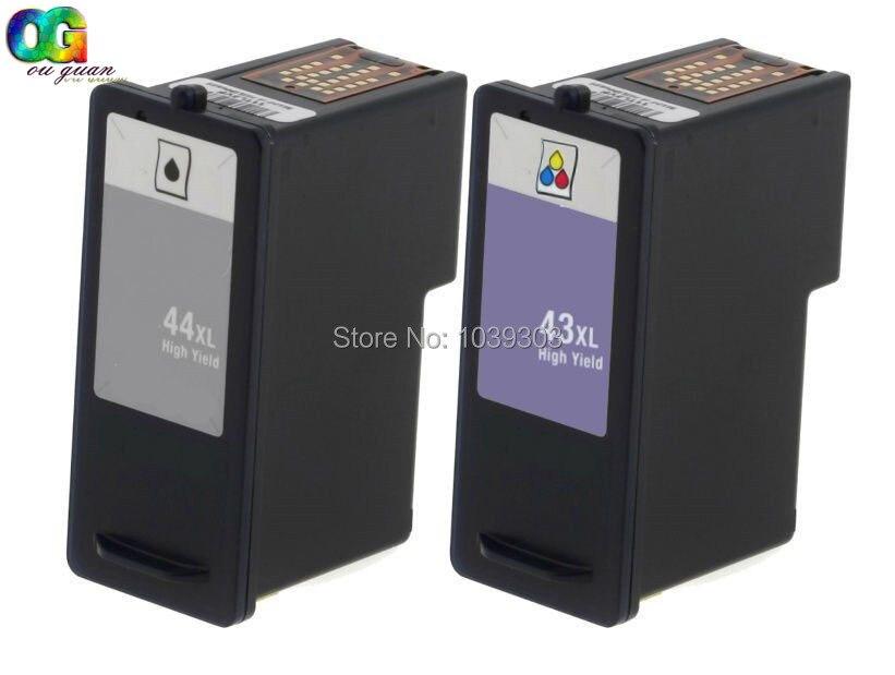 2PK 43XL 44XL Ink Inkjet 18Y0143 18Y0144 Set Compatible For Lexmark 44 43 X4950 X6570 X7550<br><br>Aliexpress
