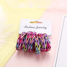 6PCS/Pack New Korean Cotton Print Hair Ropes Leopard High Elastic Headbands Elegant Hair Bands For Women Girls Hair Accessories(China)