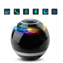 SUPOLOGY LED Caixa De Som TF Stereo Bluetooth Wireless Speaker Portable Mini Subwoofer Speakers with Light Handsfree for Phone