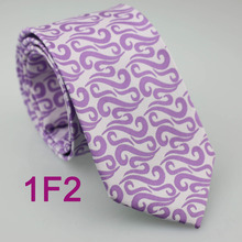 Coachella Men's ties White With Purple Neck tie Paisley Normal Jacquard Woven Necktie Fashion Formal for Man dress shirt Wedding