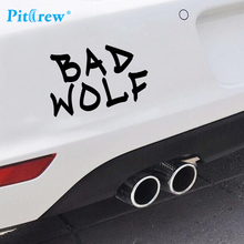 2016 1PC  7*14cm Funny  New Style Bad Wolf Car Sticker Wall Vinyl Window Hand Body Decal Sticker Personality Car Styling