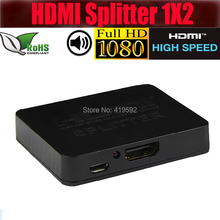 4K HDMI Splitter HDMI 1.4V 1 in 2 out up to 4kX2k resolutions for HDTV DVD player with USB power supply