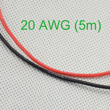 20 AWG (5m) Gauge Silicone Wire Wiring Flexible Stranded Copper Cables for RC